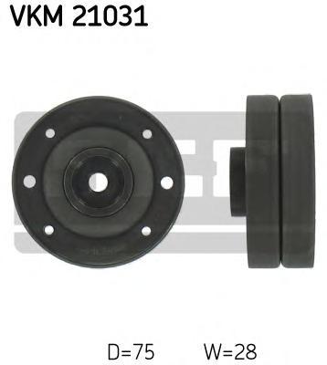 VKM21031 Ролик промежуточный ремня ГРМ Audi 100 1.9/2.1 82-84,2.0(D)/2.2 84-90,2.3 86-90,2.4D 90-94,200 2.1 83-88,2.2/2.3 84-91,
