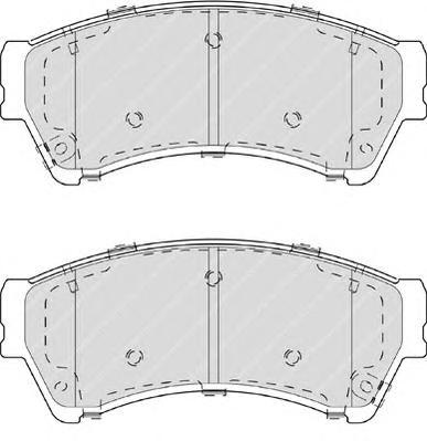FDB4062 Колодки тормозные MAZDA 6 1.8-2.5 08- передние