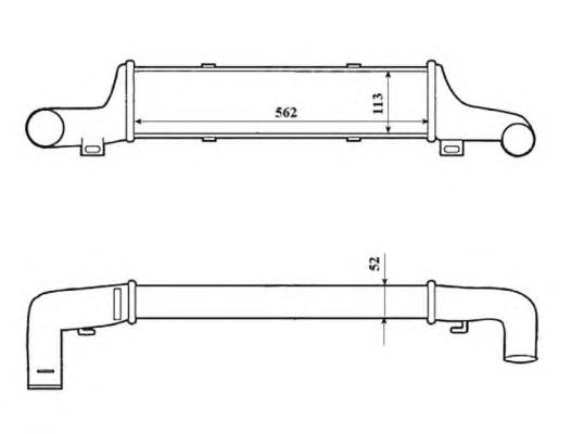 30419 Интеркулер MB (W210) 2.0CDi-2.9TD 97-03