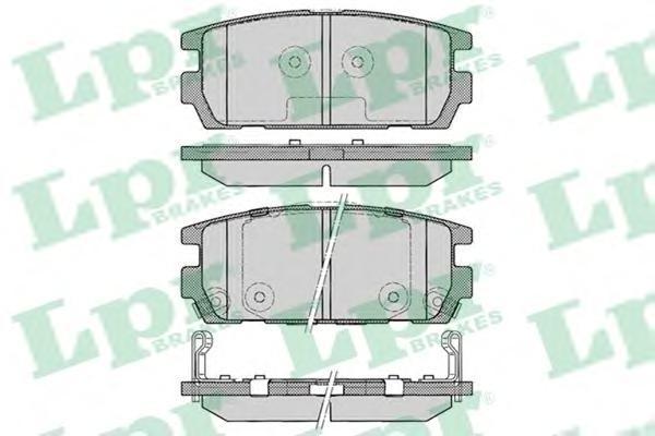 05P1290 Колодки тормозные HYUNDAI TERRACAN 01- задние