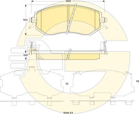 6135199 Колодки тормозные SUBARU FORESTER 08-/IMPREZA 08-/XV 12- передние
