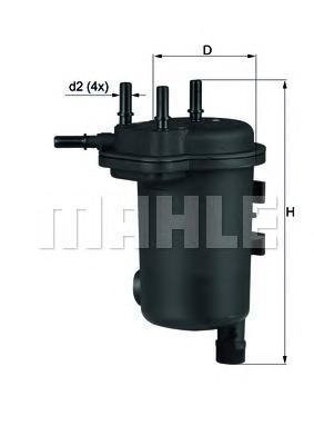 KL632D Фильтр топливный RENAULT: CLIO ll 1.5DC 01-, KANGOO 1.5DC 01-, THALIA 1.5DCI  01-, SUZUKI: JUMNY 1.5DDIS 03-