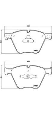 P06073 Колодки тормозные BMW X5(E70) 10-/X6(E71) 08- передние