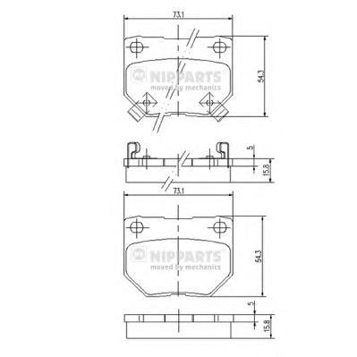 J3611029 Колодки тормозные NISSAN SKYLINE 89-/300 ZX 3.0 90-95 задние