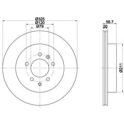 8DD355118771 Диск тормозной LAND ROVER DISCOVERY 2.7D 04-/RANGE ROVER SPORT 2.7D 05- задний