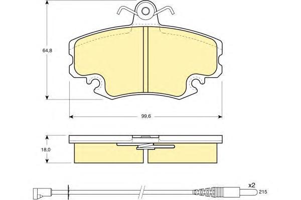 6104001 Колодки тормозные RENAULT LOGAN 04-/SANDERO 08-/CLIO 91- передние с датчиком