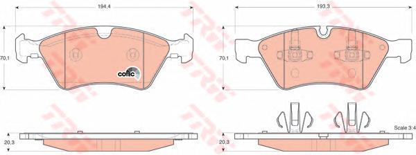 GDB1642 Колодки тормозные MERCEDES W164 (ML)/X164 (GL)/W211/W251 04 передние