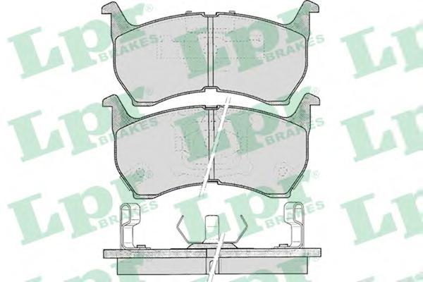 05P371 Колодки тормозные MAZDA 626 1.6-2.0 82-87 передние