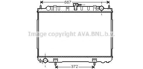 DN2241 Радиатор NISSAN X-TRAIL 2.2D 01-08