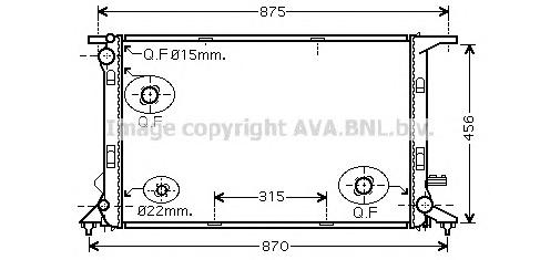AIA2290 Радиатор AUDI A4/A5/A6/A7 2.7-3.0TDI/3.2FSI 07-