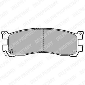LP1189 Колодки тормозные MAZDA 626 87-97/929 87-91/XEDOS 9/MPV 95-99 задние