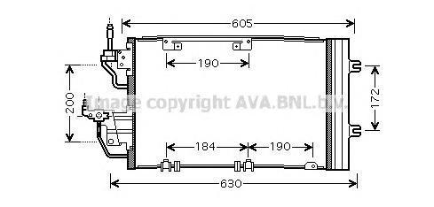 OL5454 Радиатор кондиционера OPEL: ASTRA H 1.3 CDTI/1.7 CDTI/1.9 CDTI/1.9 CDTI 16V/2.0 Turbo 04 - , ASTRA H GTC 1.3 CDTI/1.7 CDT