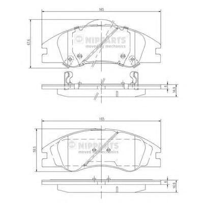 J3600326 Колодки тормозные KIA CERATO 04- передние