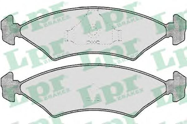 05p232 Комплект тормозных колодок, дисковый тормоз