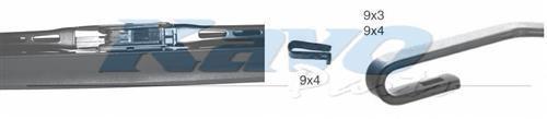 KWS022 Щётка с/о 550Sмм SPOILER BLADE Hook