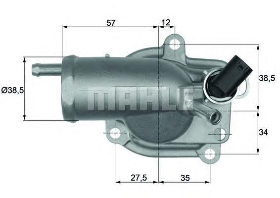 TH987 Термостат MERCEDES W202 3.6/2.0D 97-01