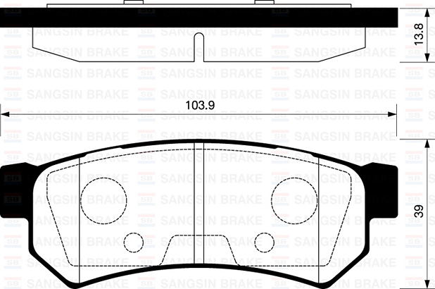 SP1257 Колодки тормозные CHEVROLET LACETTI 07-/DAEWOO NUBIRA задние