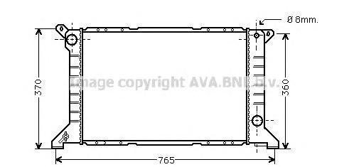 FD2203 Радиатор системы охлаждения FORD: TRANSIT c бортовой платформой/ходовая часть (E_ _) 2.5 DI (EME/L/S, ENE/L/S)/2.5 DI (EM