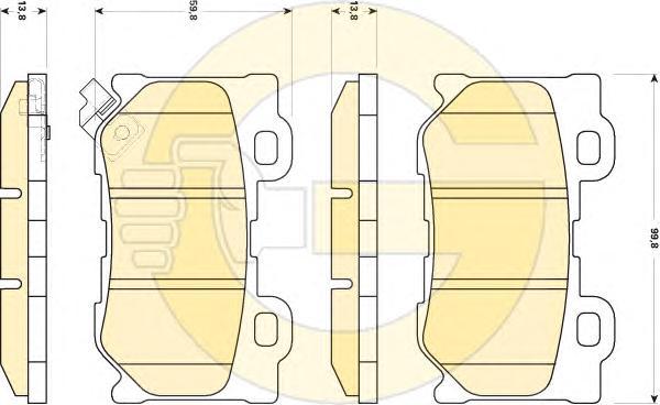 6135159 Колодки тормозные INFINITI FX35/37/50 08-/GS35/37/25 06- задние