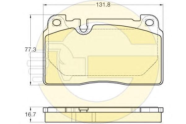 6119743 Колодки тормозные AUDI A6 ALLROAD 12-/A7 14-/Q5 12- передние