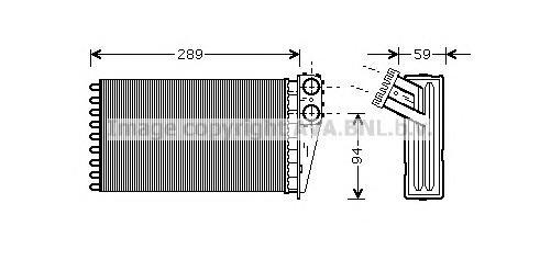 PEA6227 Радиатор отопителя PEUGEOT 307 1.4-2.0 00-