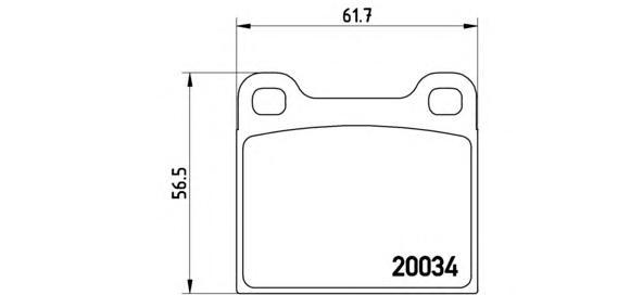 P59001 Колодки тормозные MERCEDES W116/W123/W126 задние