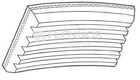 7DPK1360 Поликлиновой ремень FO