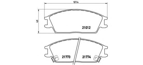 P30024 Колодки тормозные HYUNDAI ACCENT/GETZ передние