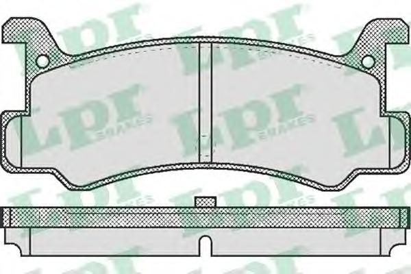 05P367 Колодки тормозные MAZDA 323 1.6 85-91/MX-3 1.6/1.8 91- задние