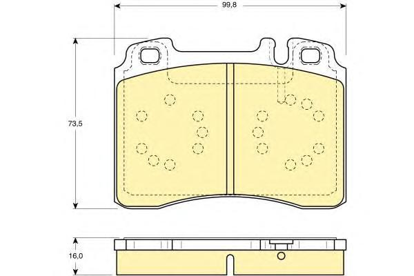 6113182 Колодки тормозные MERCEDES W124/W210/R129 87-02 передние