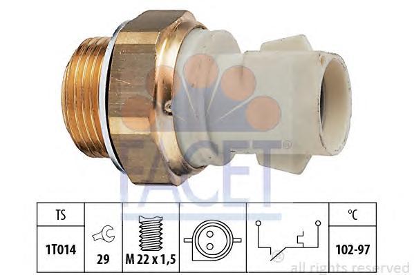 75137 Датчик включения вентилятора FORD: CORTINA 1300 62-72, COURIER фургон (F3L, F5L) 1.3 91-96, ESCORT '86 Courrier (AVF) 1.1
