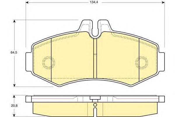 6113734 Колодки тормозные MERCEDES VITO 9303/SPRINTER (901-903) 06 передние