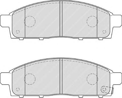 FDB4023 Колодки тормозные MITSUBISHI PAJERO SPORT/MONTERO SPORT 08/L200 05 передние