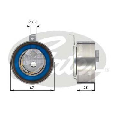 T43152 Ролик ремня ГРМ AUDI A4-A8/Q5/Q7 2.7D/3.0D 03-