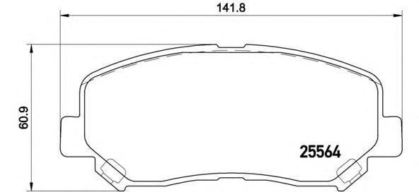 P49045 Колодки тормозные MAZDA CX-5 11- передние