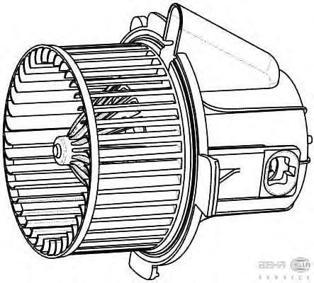 8EW009157541 Мотор отопителя CITROEN C4/PEUGEOT 307 1.4-2.0/1.4D-2.0D 00-