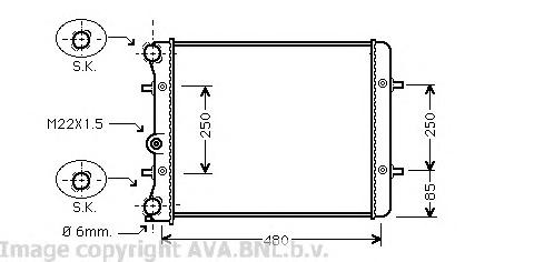 VW2152 Радиатор VAG G4/BORA/OCTAVIA 1.4/1.6 99-05