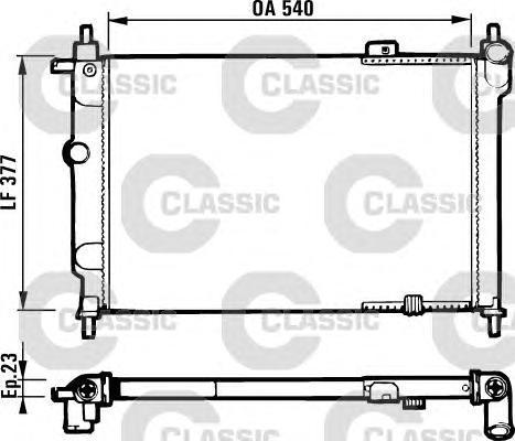 231551 Радиатор системы охлаждения OPEL: ASTRA F (56, 57) 1.4 I 16V/1.6 I 16V/1.7 D/1.8 I/1.8 I 16V/2.0 I/2.0 I 16V 91-98 , ASTR