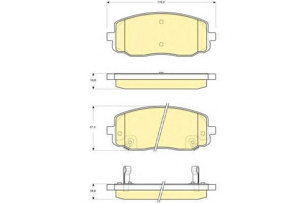 6133699 Колодки тормозные HYUNDAI i10 08-/KIA PICANTO 04- передние