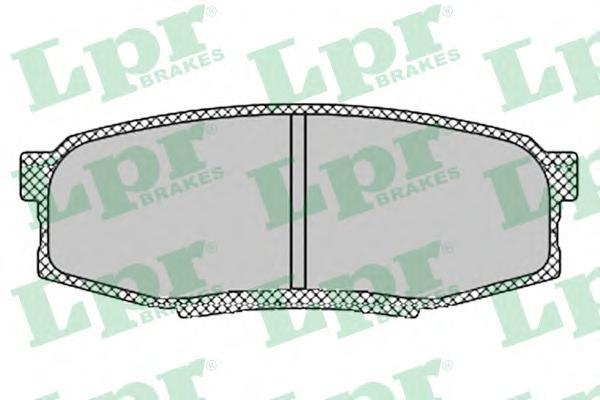 05P1419 Колодки тормозные TOYOTA LAND CRUISER J200 4.5D/4.7 07-/LEXUS LX570 08- задние