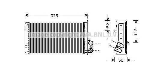 RT6226 Радиатор отопителя RENAULT MASTER II 1.9D-3.0D 98-