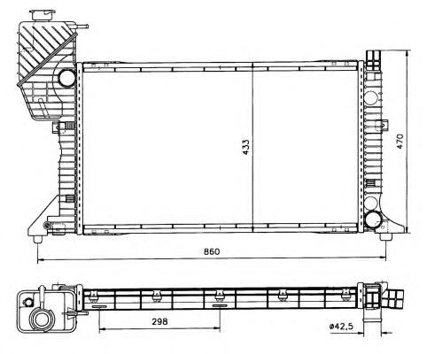 50557 Радиатор MB Sprin TD+AC МКПП 95-06