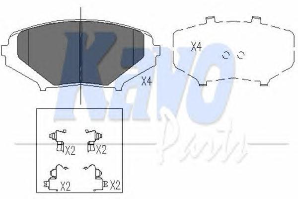 KBP4546 Колодки тормозные MAZDA RX8 2.6 03-12 передние