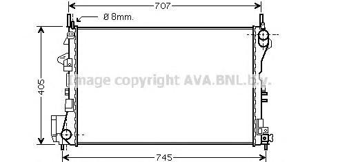 OL2338 Радиатор OPEL VECTRA C 1.6-1.8 02-