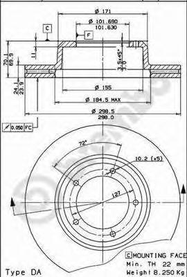 09548810 Тормозной диск