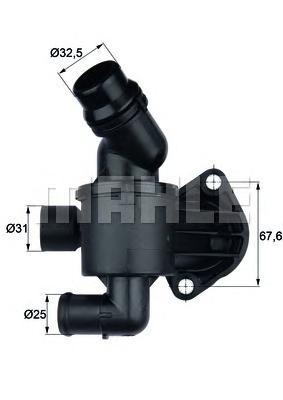 TI3487 Термостат AUDI A4/A6/Q5 2.0TD 08-/10-