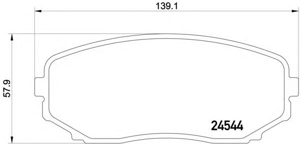 8DB355013251 Колодки тормозные MAZDA CX-7/CX-9 07- передние