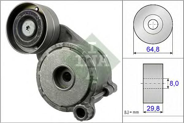 534050610 Ролик приводного ремня MERCEDES-BENZ W211 280CDI-320CDI 05
