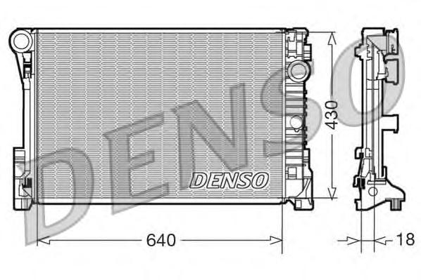 DRM17111 Радиатор системы охлаждения MERCEDES-BENZ: C CLASS (W204) C 180 Kompressor (204.044, 204.045)/C 180 Kompressor (204.046