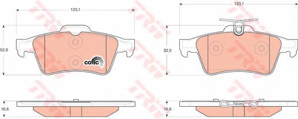 GDB1621 Колодки тормозные FORD FOCUS II/III/MAZDA 3/OPEL VECTRA C/VOLVO S40 задние